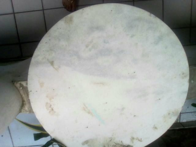 Pedra de mármore redonda