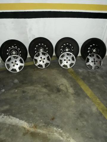Rodas + pneus +calotas