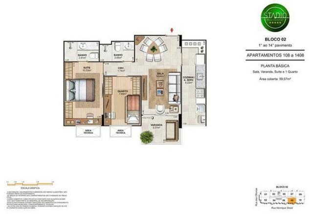 Apartamento de 2 quartos, no Engenho de Dentro, Condomínio Unique Stadio - Foto 11