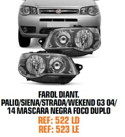 Farol Palio G3 Siena Strada G3 Máscara Negra - Foto 2