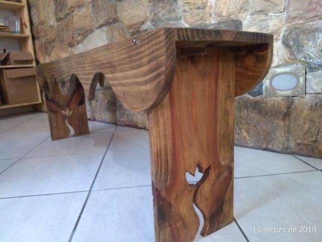 Banco para varanda, em madeira maciça - Foto 2