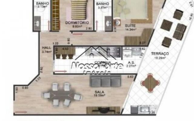 Lançamento Apartamento de frente para o mar no Jardim Real em Praia Grande - Foto 2