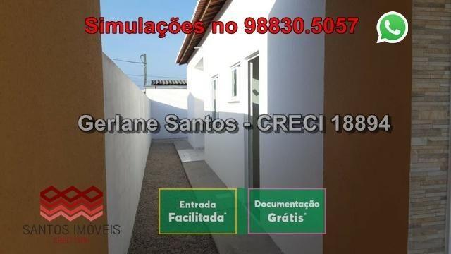 Casa de Esquina com Escritura Grátis, 02 Quartos, 02 Wc, Garagem e Quintal - Foto 3