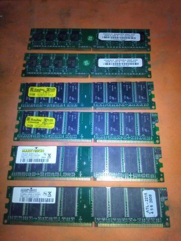 Memórias DDR1 1GB E DDR2 2GB
