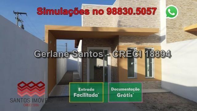 Casa de Esquina com Escritura Grátis, 02 Quartos, 02 Wc, Garagem e Quintal