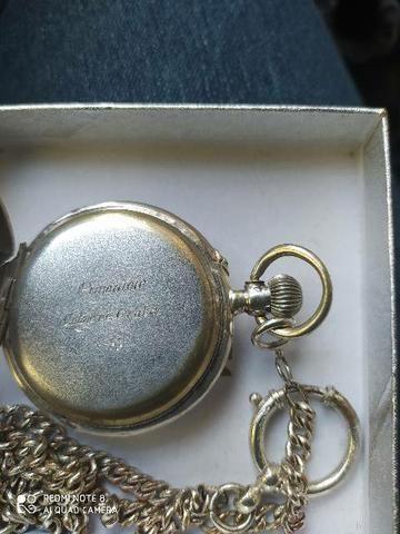Relógio de bolso em prata original - Foto 3