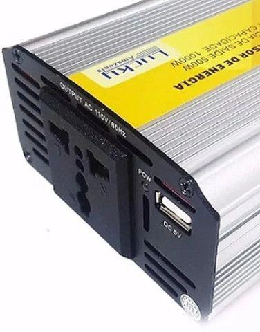 Inversor 12v Para 110v 1000 Watts Original Lucky Amazonia - Foto 2