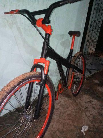 Vendo bicicleta quadro de Alumínio - Foto 2