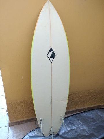 Prancha Zampol 6'2 com quilha + deck + lesh + capa - Foto 2