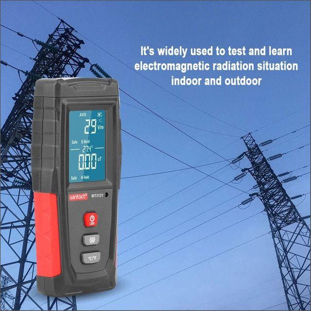 Detector de Radiação Portátil e Recarregável, Medidor do Campo Eletromagnético Emf - Foto 4