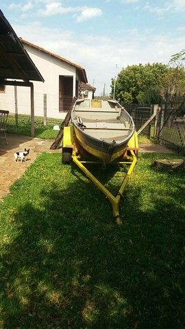 Vendo barco aluminio 4mts borda baixa - Foto 2