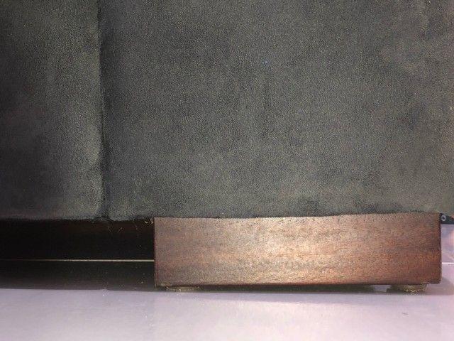 Sofá de dois lugares, cor: azul oxford, usado - Foto 3