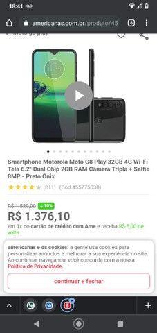 Moto g8 play ele está novinho e ainda vai com carregar original tudo ok - Foto 5