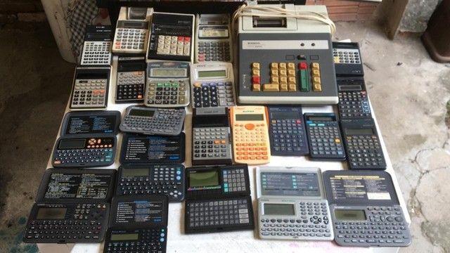Vendo lote de calculadoras antigas