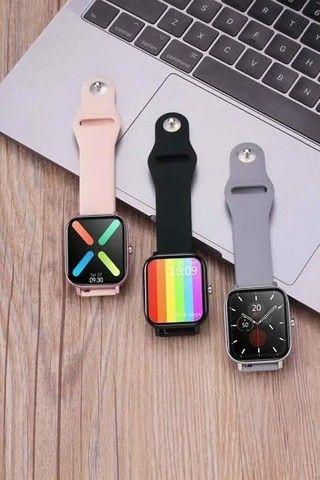 Relógio Smartwatch DT36 Rosa e Cinza - Foto 3