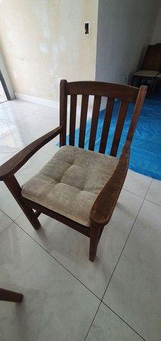 Conjunto Cadeiras e Mesa Madeira Carvalho - Foto 3