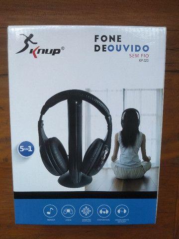Fone de ouvido sem fio 5 em 1 - Knup Model KP-323 - Foto 2