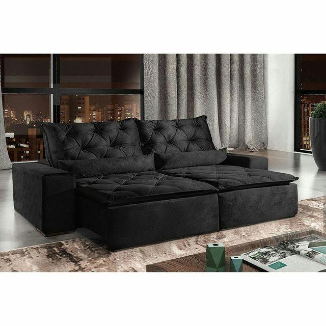 !!!Sofá retrátil e reclinável alto padrão Infiniti  - Foto 2