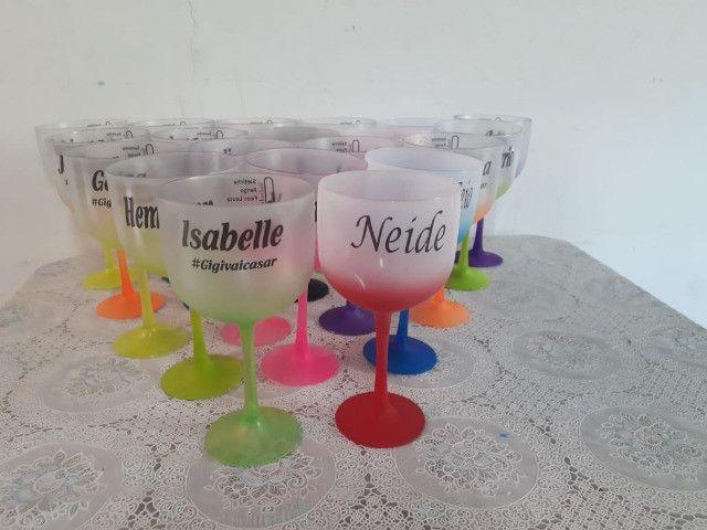 10 Taças Gin Degradê Personalizada com Nome - Foto 5