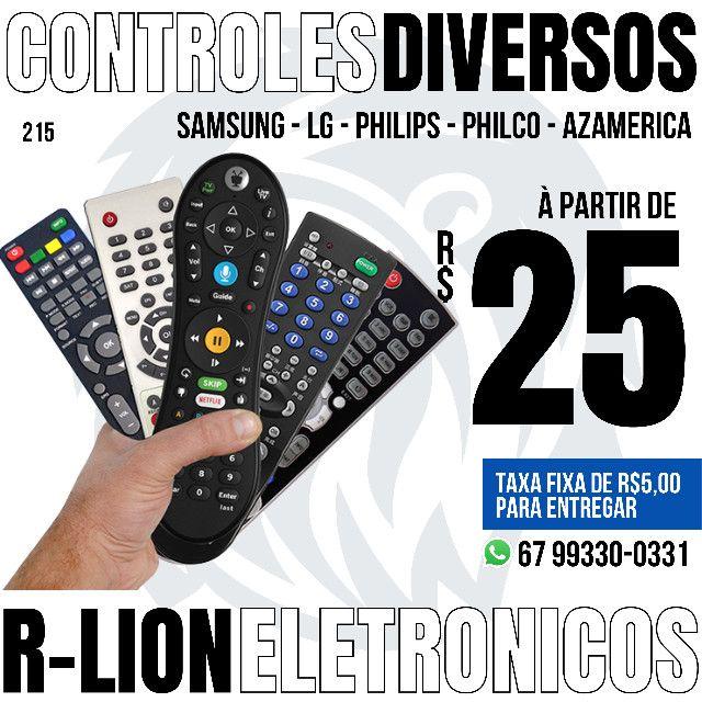 Controles para TVs e receptores (a pronta entrega)