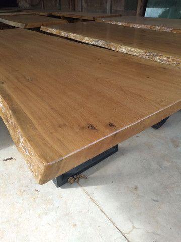 Mesas Rústicas, com os pés de ferro e também de madeira - Foto 2