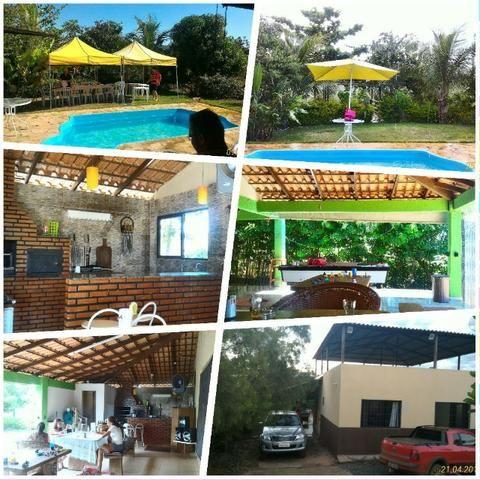 Chácara de 10.000m² no Corumbá III. Casa, piscina aquecida, área de lazer c/ churrasqueira - Foto 3