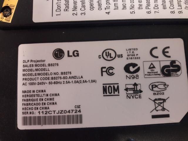 Projetor LG BS 275 completo e garantia - Foto 2