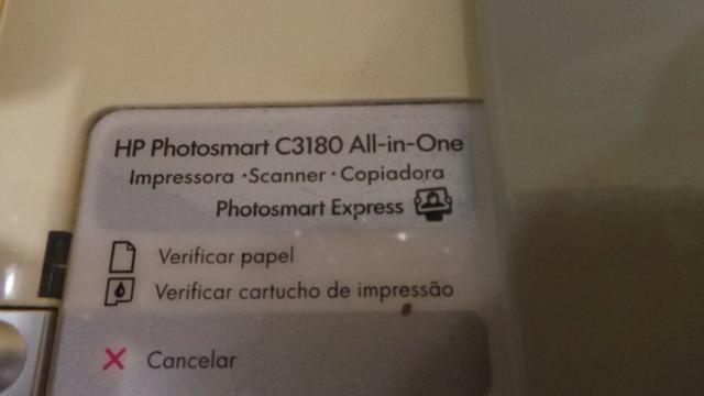 Impressora hp photosmart c 3180 scanner copiadora funcionando sem cartuchos! - Foto 3