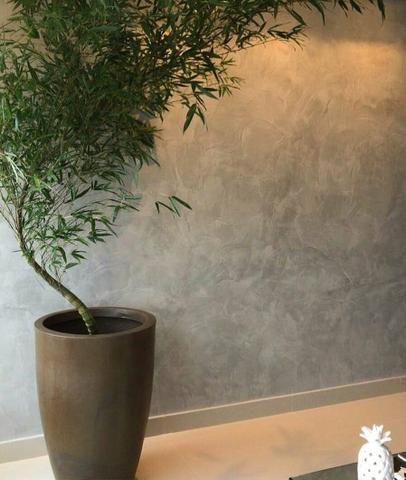Cimento queimado para paredes e tetos