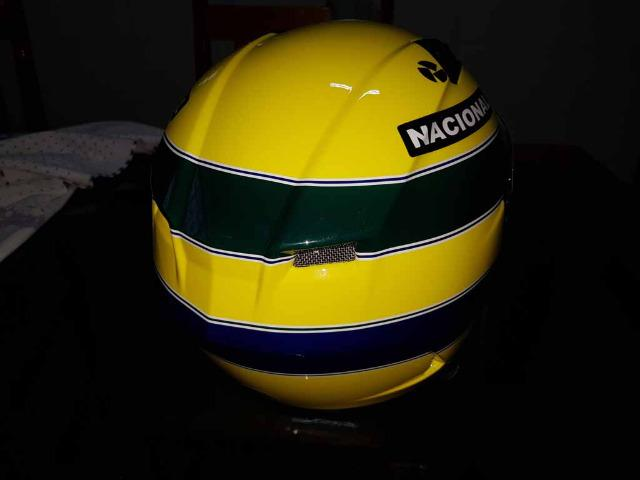 Capacete Personalizado Ayrton Senna - Novo - Sem uso - Na Caixa - Foto 13