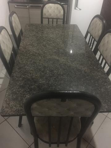 Mesa de mármore 6 cadeiras !