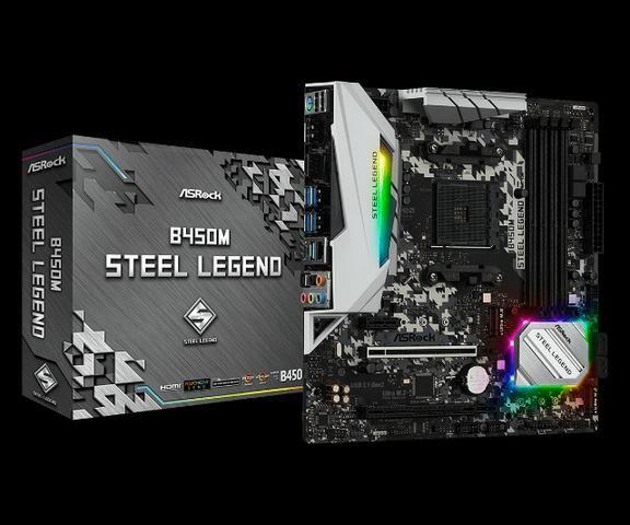 Placa Mãe B450M Steel Legend DDR4 Socket Am4