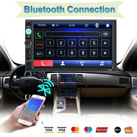 Central Multimídia Display Digital Bluetooth, Usb, Fm - Foto 10