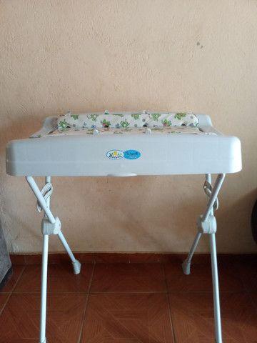 Suporte de banheira para bebê com trocador  - Foto 2