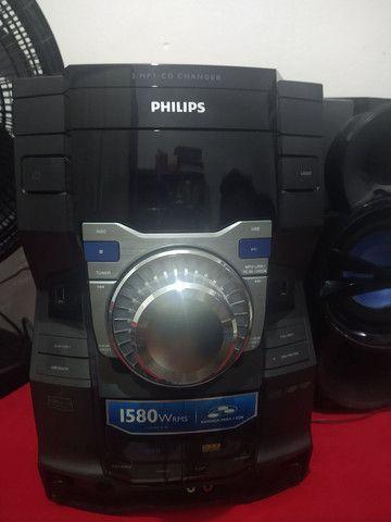 Som Philips modelo FWM9000X/78 1580 wrms do. Para retirada de peças - Foto 3
