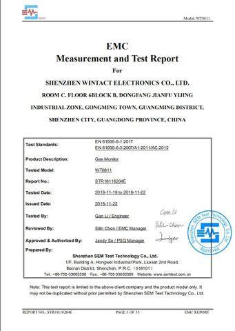 Monitor De Monóxido De Carbono 4 Em 1 Wintact Wt8811 - Foto 3