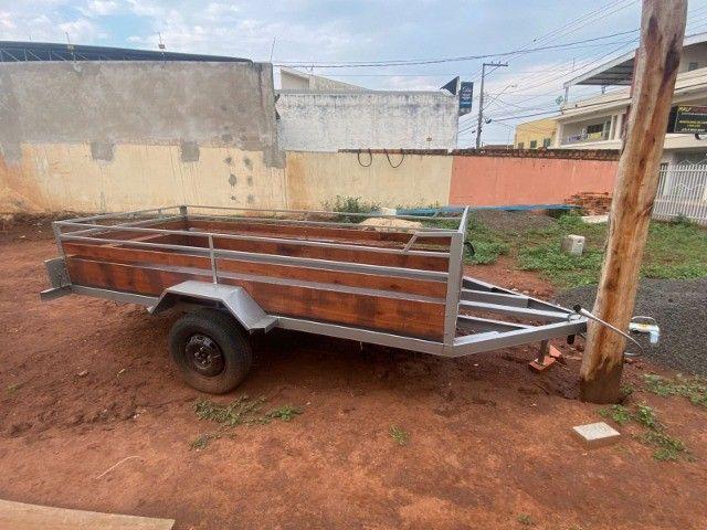 Carreta Reboque 3,00x1,50 - Nova e Documentada e Emplacada 09/2021