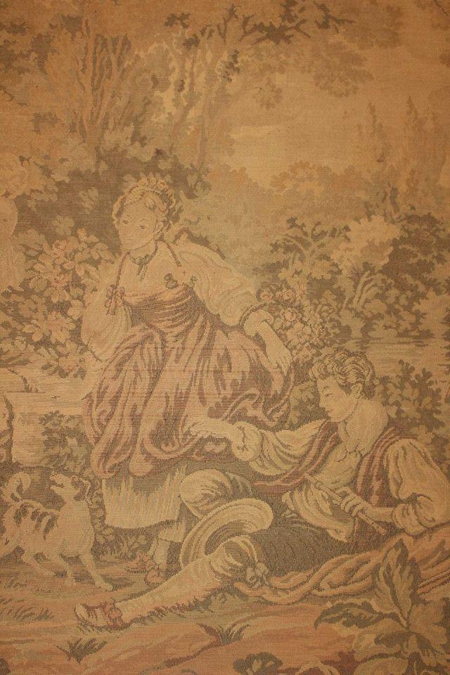 Quadro Tapeçaria / Tapete de parede / Gobelin / em Tecido Bege 103 cm x  203 cm x  3 cm - Foto 5