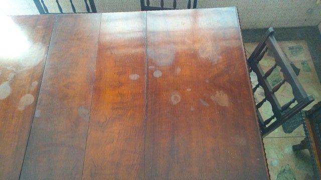 Mesa antiga em madeira nobre - somente a mesa - Foto 6