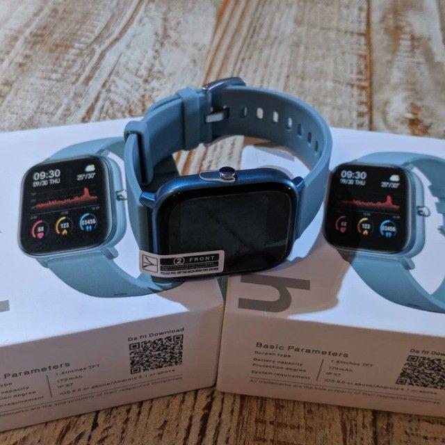 Relógio Smartwatch Colmi P8 Azul - Foto 2