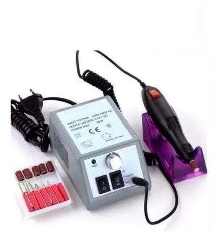 Lixadeira Lixa Motor De Unha Elétrica Profissional Gel Fibra - Foto 5