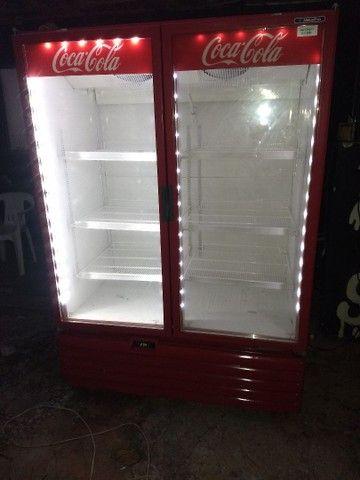 Freezer expositor metalfrio 1022 litros 220V super novo - Foto 2