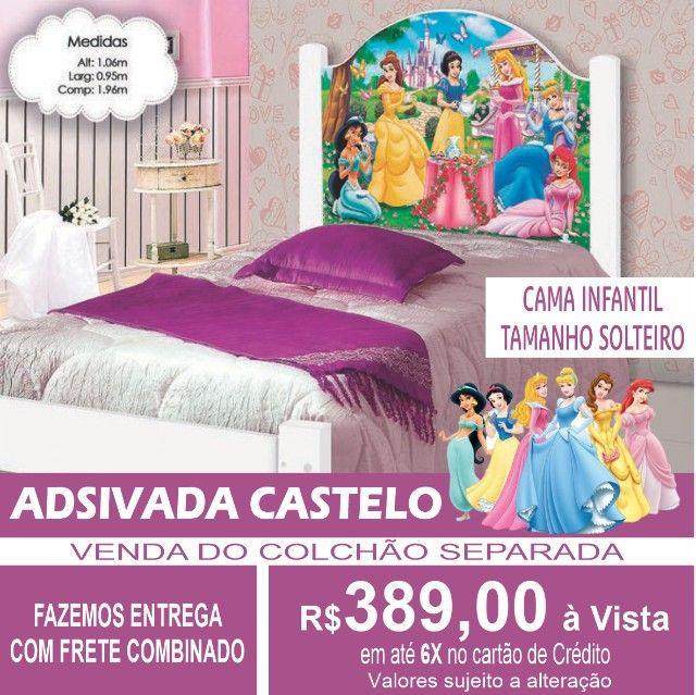 Cama Castelo Juvenil Adesivada 100%MDF