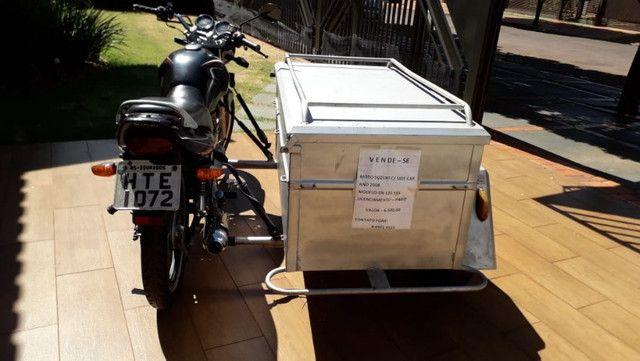 Moto Yes 125 2008 com sidecar carretinha baú capacidade 300L - Foto 2