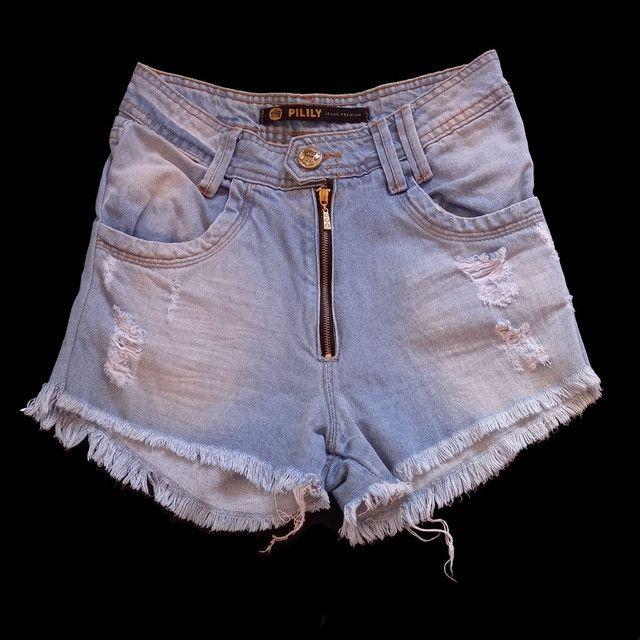 Três shorts jeans cós alto  - Foto 2