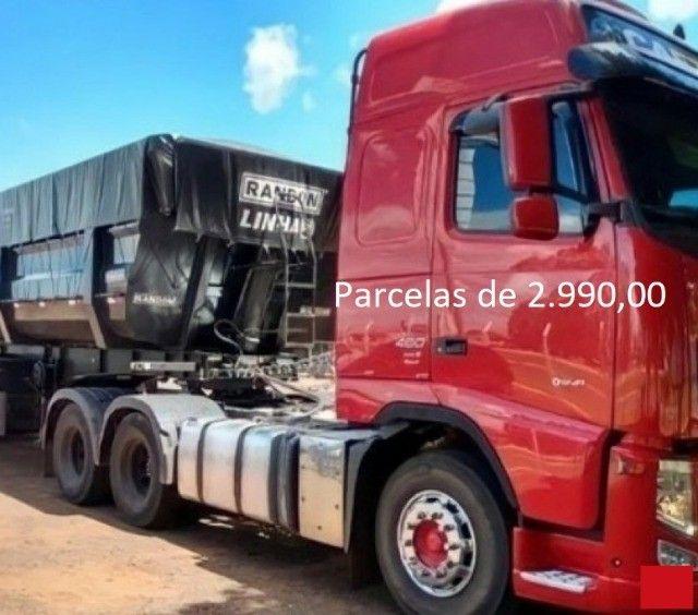 Volvo FH 460 6x2 2015 na Caçamba Rondon Entrada mais Parcelas com Contrato de Serviço. - Foto 9