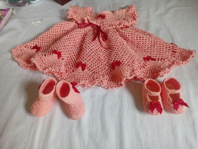Sapatinhos de crochê - Foto 5