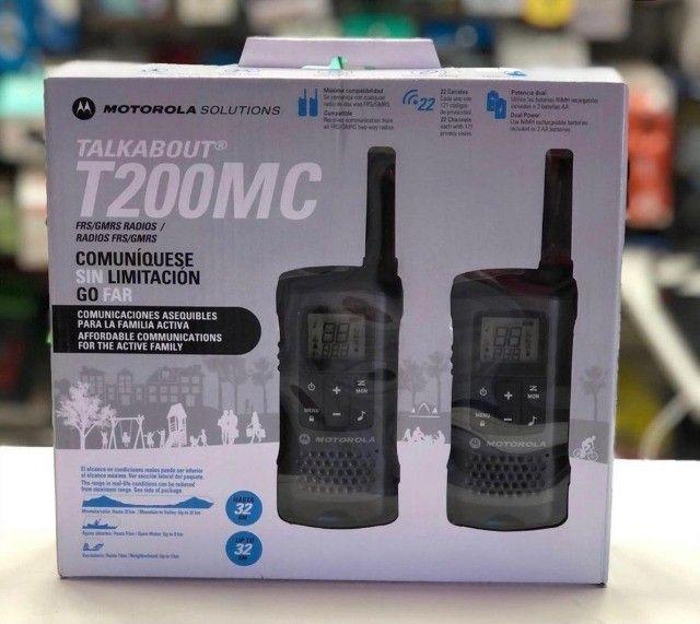 Rádio Comunicador Motorola T-200MC 20 Milhas / 32 km Bivolt - Preto / Cinza