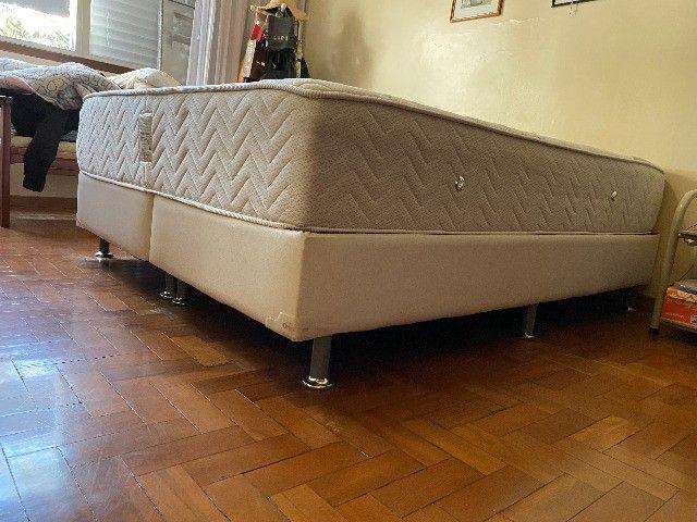 Colchão + Cama Box Queen Size Ortobom semi-novo - Foto 5