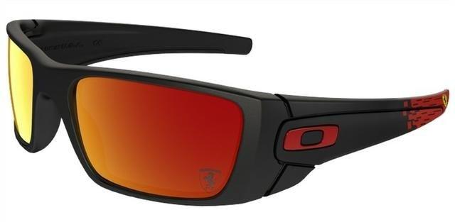 c1fb8e14ab615 Óculos Oakley Ferrari Fuel Cell Preto E Vermelho - Novo